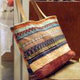 模様織りのかばん