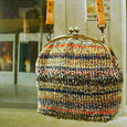 手編みのショルダーがま