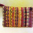 模様織り ウールのポーチ
