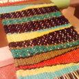つづれ織りと裂き織りの織り物